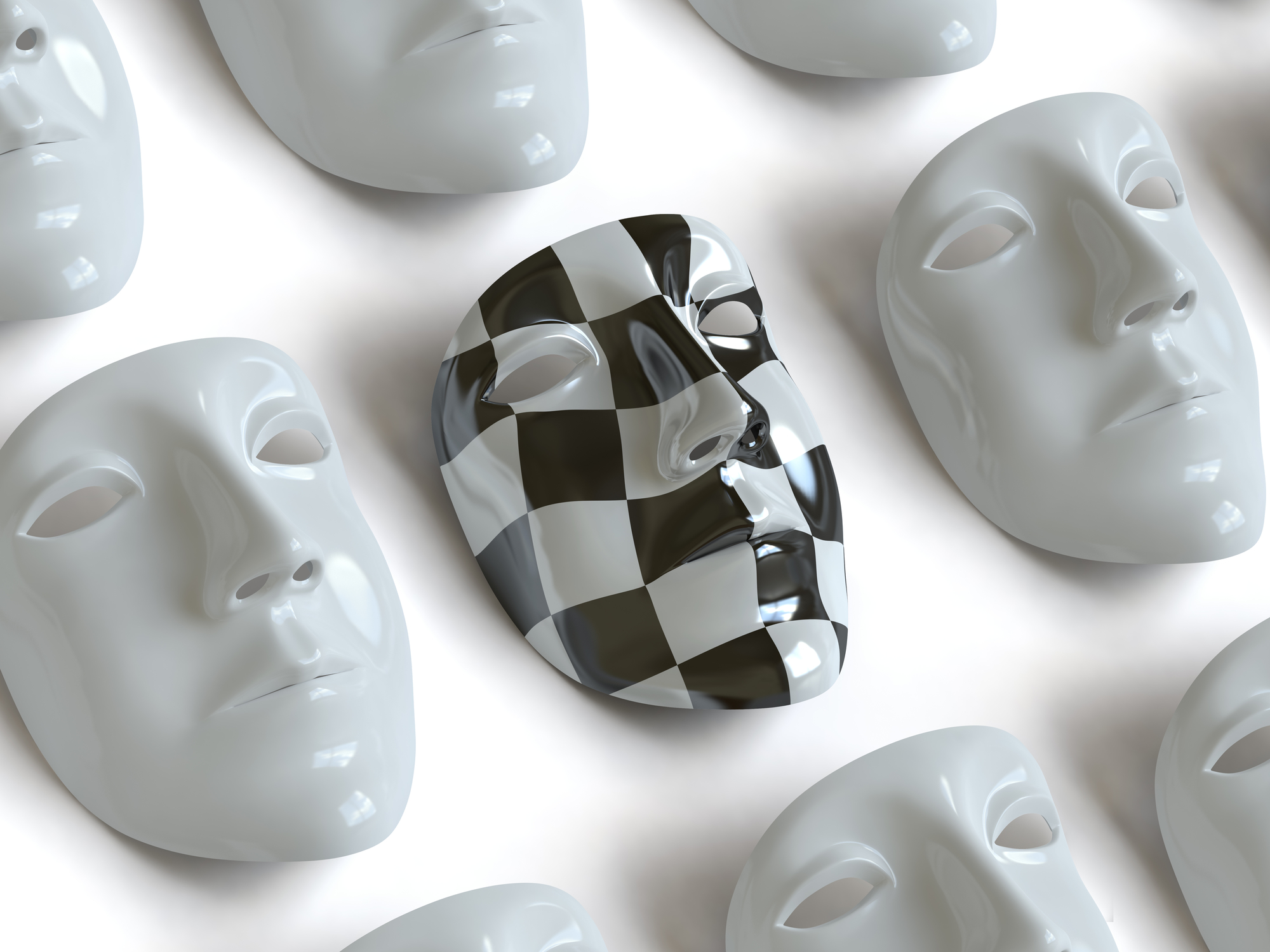 image of masks showing a different personality type